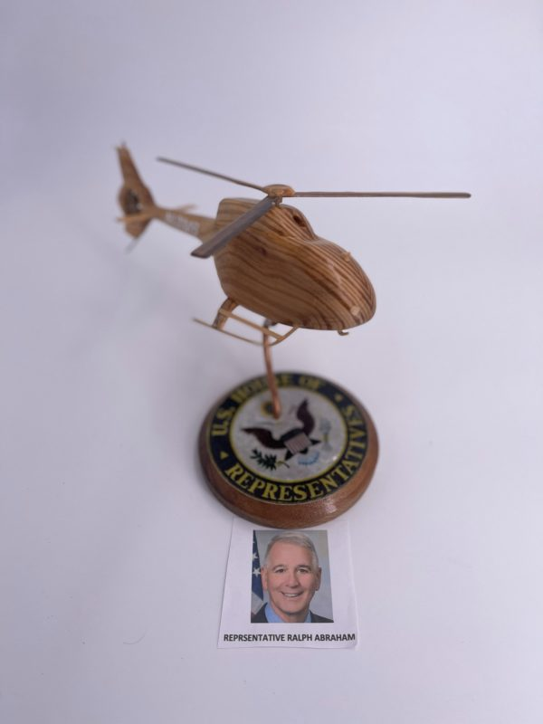 Wooden Model Euro 120 Helicopter signed by Ralph Abraham